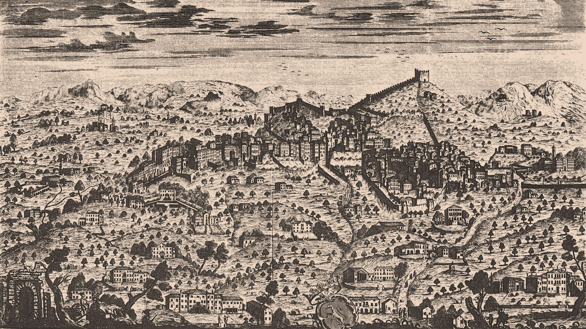 View of Asolo, M. S. Giampiccoli, 1780 AD